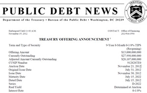 Treasury announcement