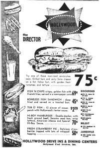 1969 menu